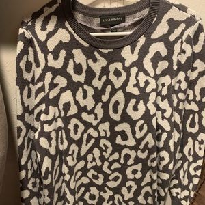 Lane Bryant leopard sweater grey and white 14/16